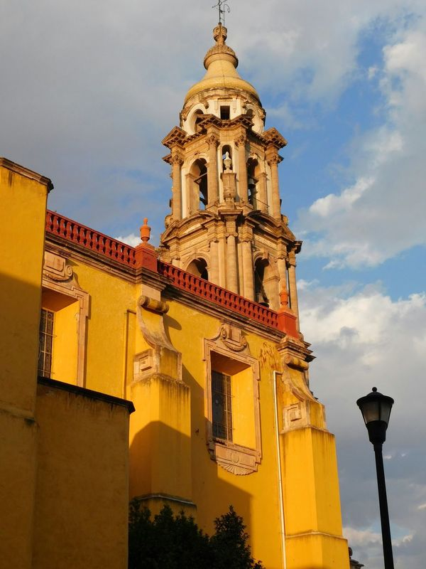 Travel Destinations Sky Architecture Tower Built Structure History Building Exterior Tourism No People City Cloud - Sky Outdoors Day Mexico Mexico Desconocido Celaya Mexican Paint The Town Yellow