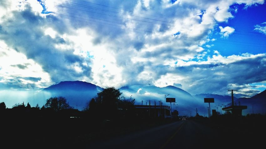 Cloud - Sky Road No People The Way Forward Outdoors Sky Mountain Nature