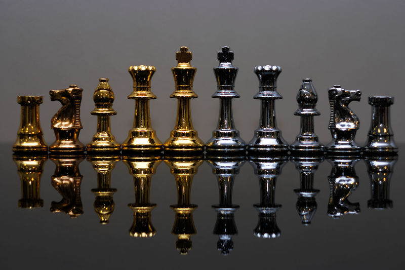 chess Chess Chess Board Chess Piece Day Indoors  Knight - Chess Piece No People Queen - Chess Piece Reflection Strategy