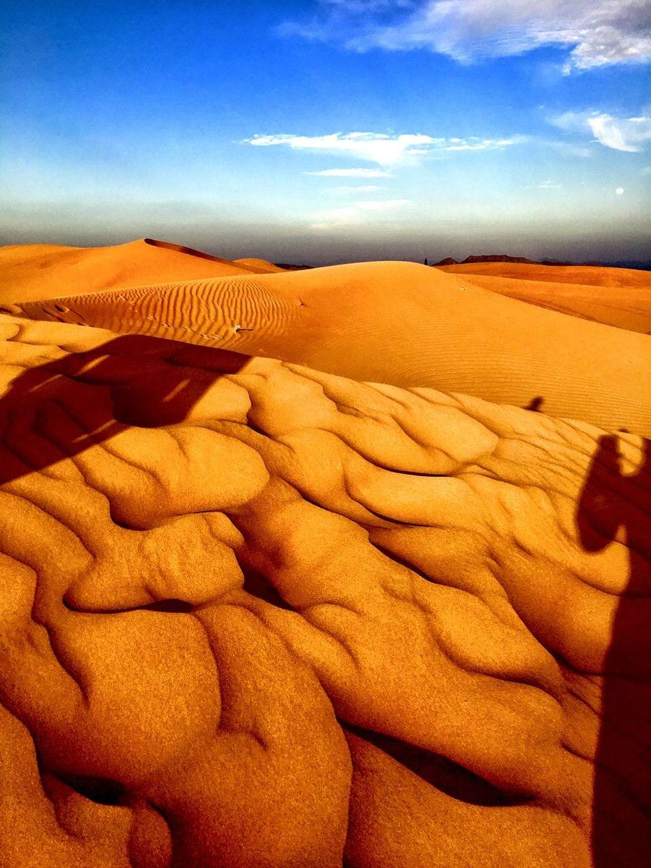 Desert Desert Around The World Nature Dubai Tranquility Landscape Landscape_Collection Travel Travel Destinations Travel Photography Blue Blue Sky Sand Sand Dune Shadows
