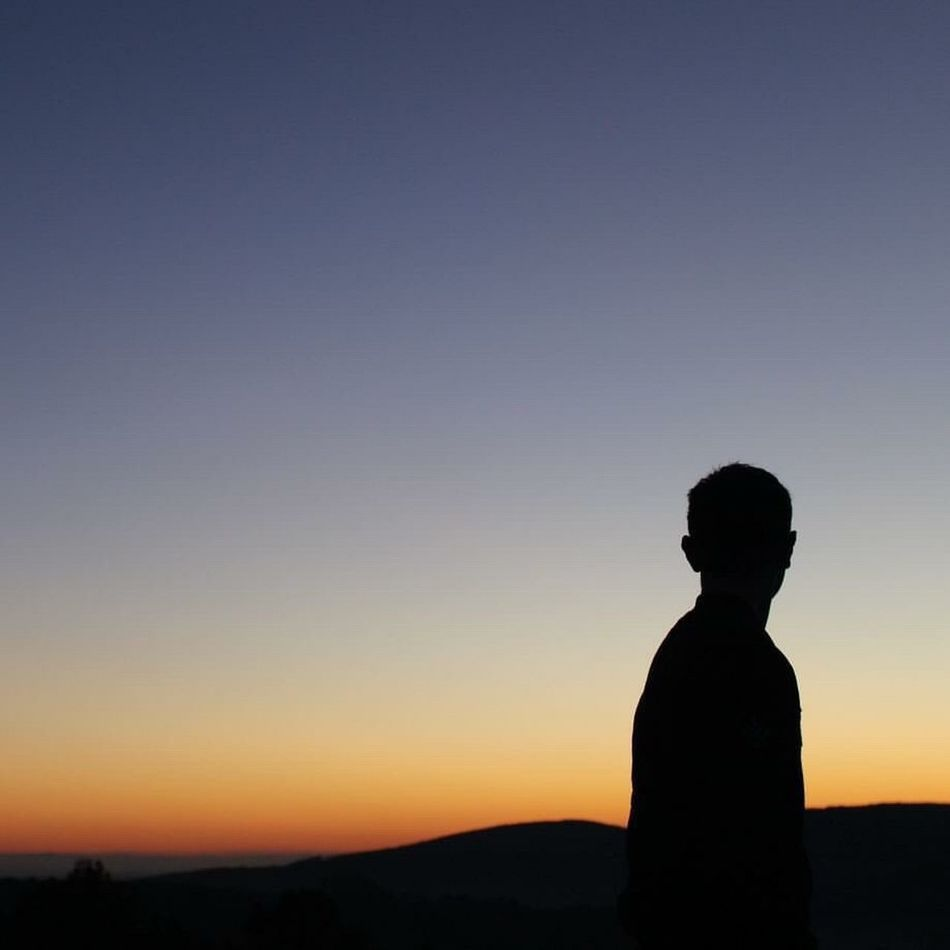 PARADISE Canon100D Silhouette Sunset One Person Tranquil Scene Adult Nature Zen-like People Sky Scenics Spirituality Adults Only Tranquility Standing Clear Sky Men One Man Only Beauty In Nature Nature