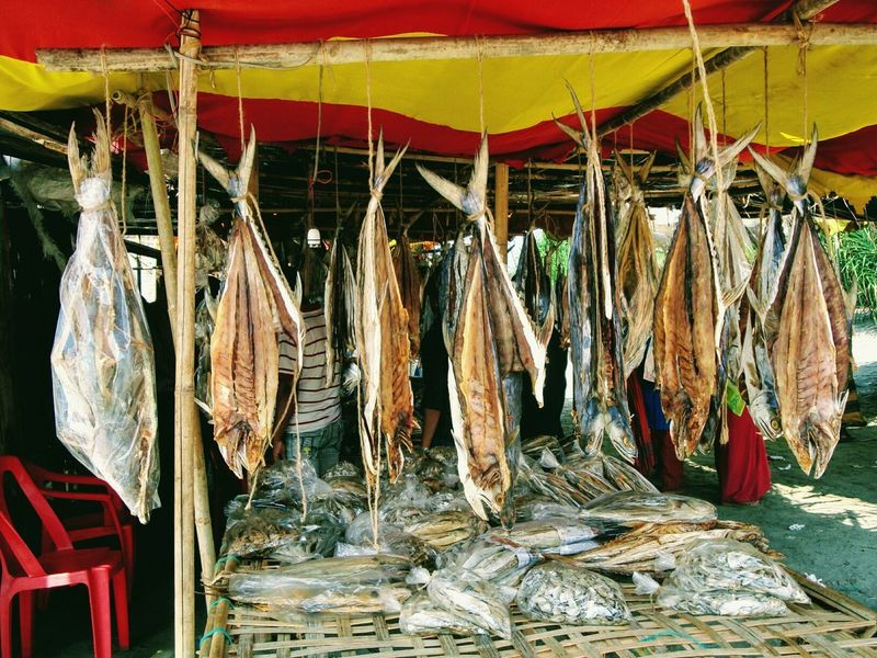 Dried EyeEmNewHere Fish Drying Market Stall Hanging Variation Retail  For Sale Choice Business Outdoors Day Close-up St. Martin's Island Bangladesh Break The Mold