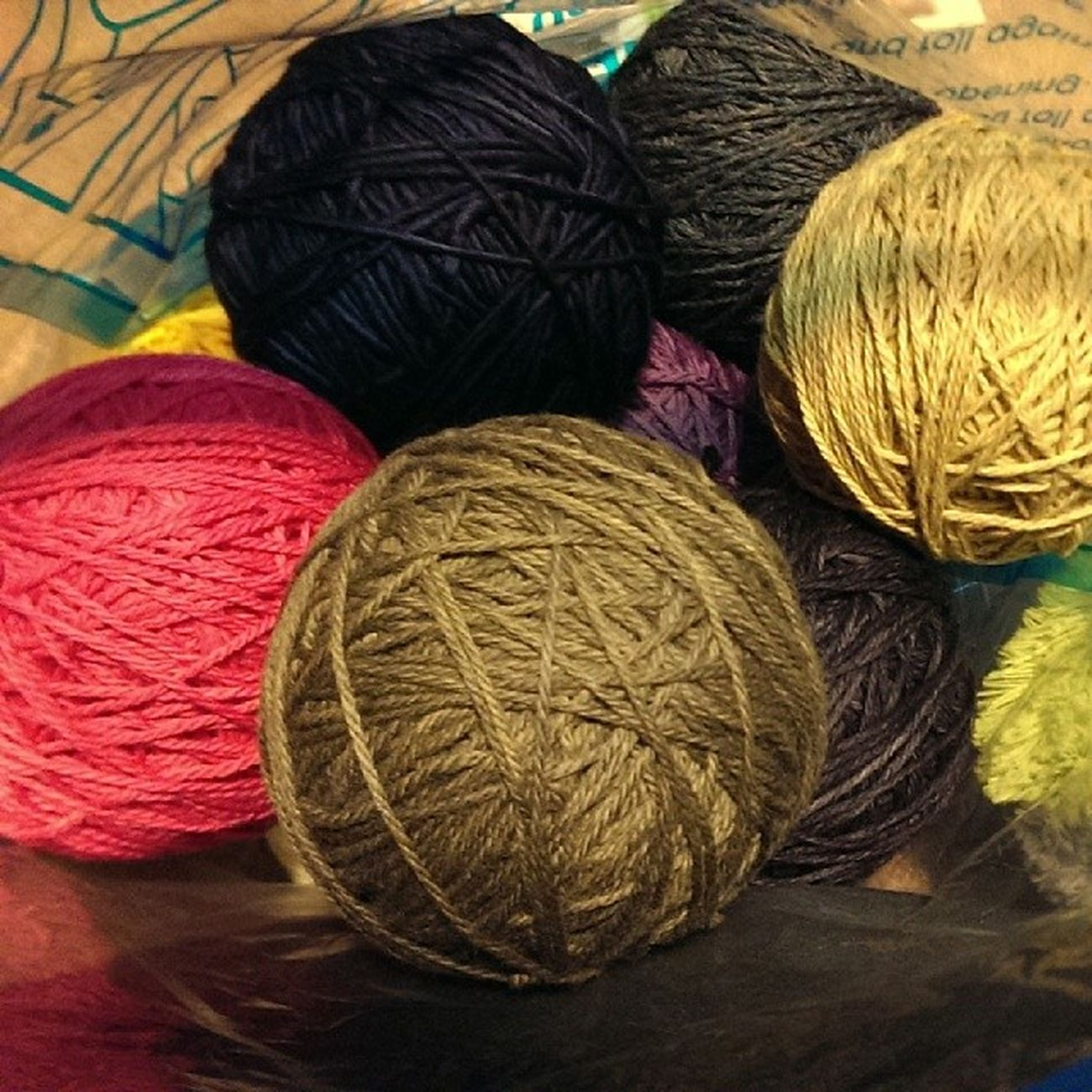 Evening spent preparing Hanks for Knitting Hats . Malabrigo  , stonehedgemills, lornaslaces, swanisland. wool yumminess