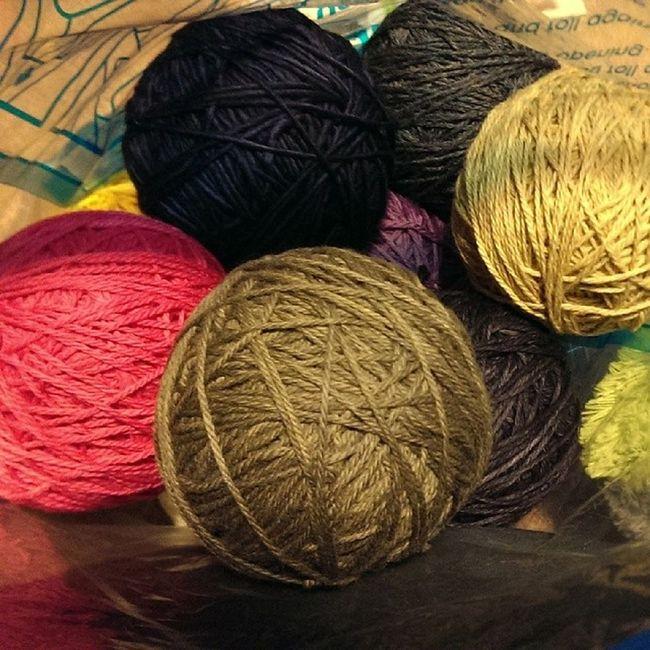 Evening spent preparing Hanks for Knitting Hats . Malabrigo  , stonehedgemills, lornaslaces, swanisland. wool yumminess