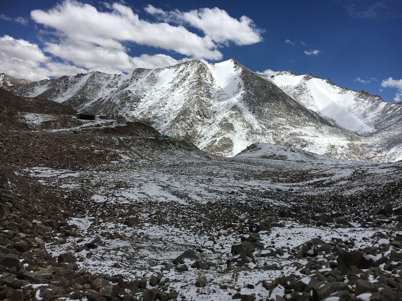 Mountain Snow Khardungla Pass Leh Ladakh India Beautiful Nature Internet Addiction