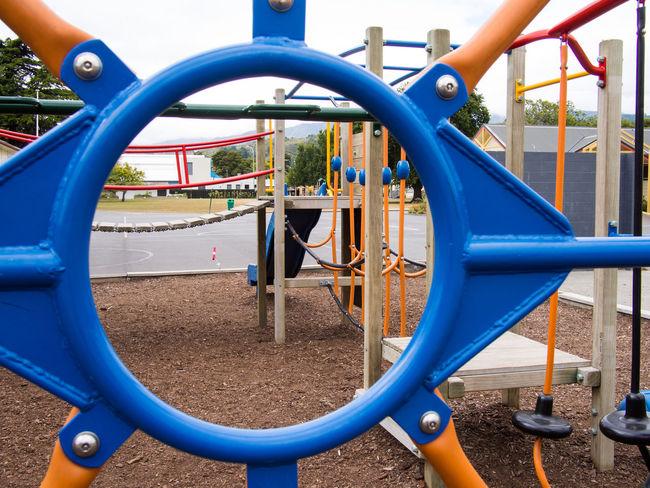 School Playground Adventure Playground Blue Circle Circle Outside Playground School School Play School Playground