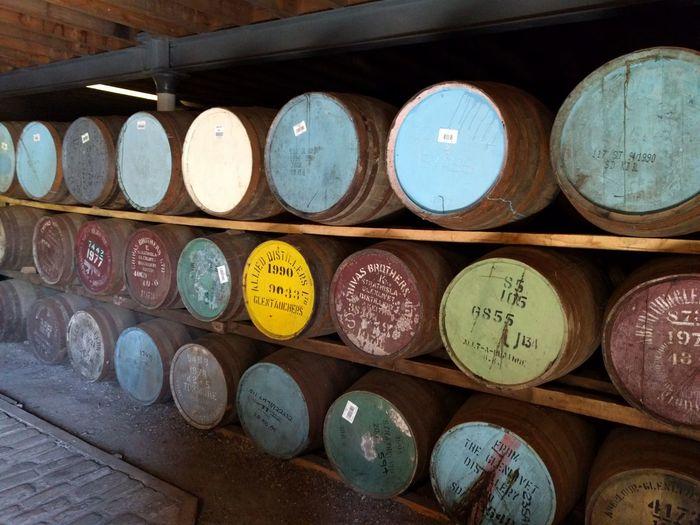 Barrels Casks Whisky Whisky Barrel Scotland Factory Wood Colors Trade Keith