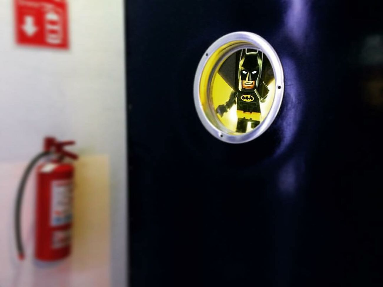 Fire Fighters No People Indoors  Firemen Extinguisher Batsignal Batman LEGO LegoBatman Movietheater