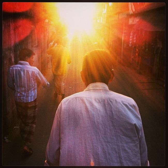 Rickshaw Ride Ray Sun Winter Evening Transport Chaktai Chittagong City Instagram
