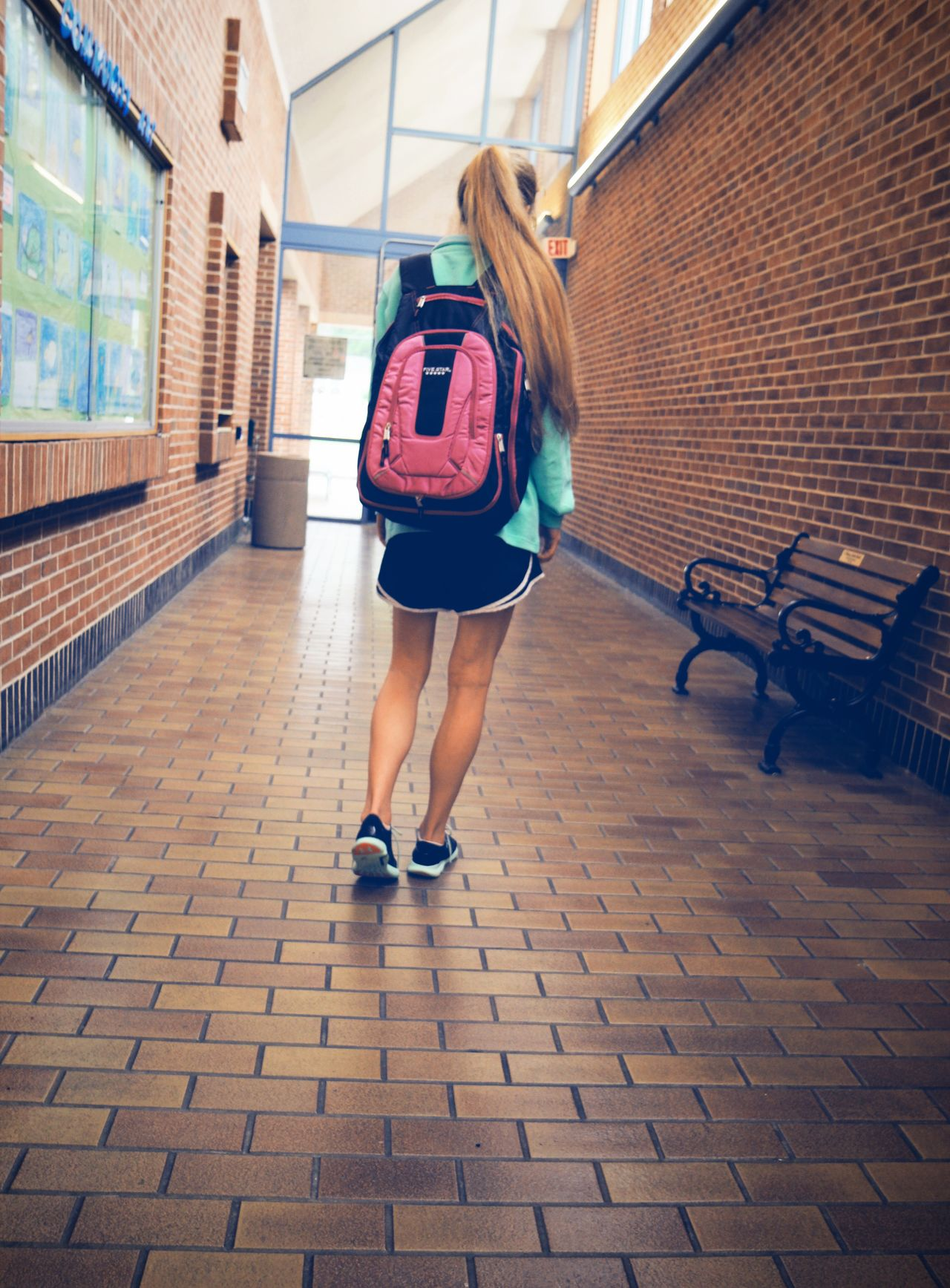 Lifestyles One Person School Class School Flow School Life  Backpack Young Adult Young Women Life