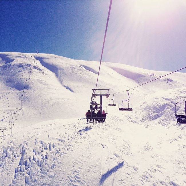 Snow Skiing Ski Snowboarding Lebanon LiveLoveLebanon White Slopes Télésiège