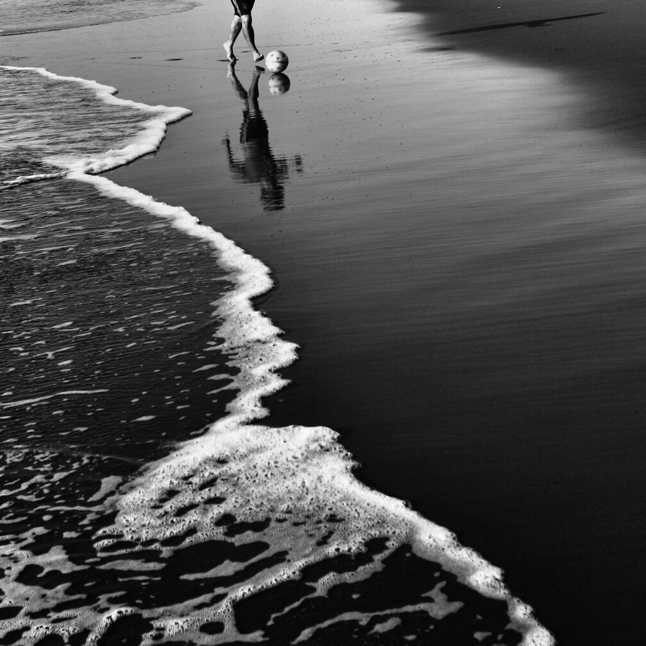 Beautiful stock photos of soccer, Beach, Day, Human Leg, Leisure Activity