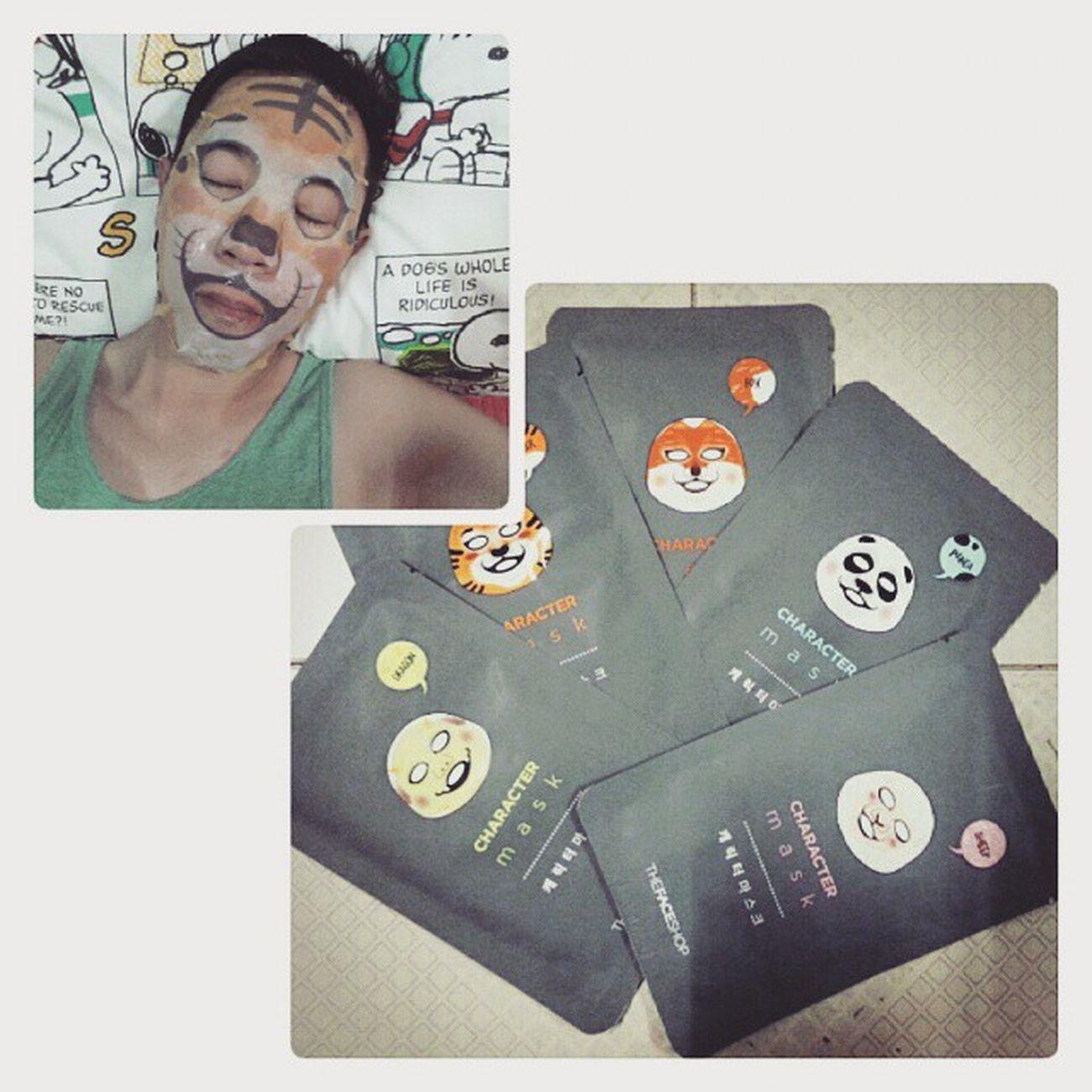 ROAR Tonight I will be TIGER 🐯🐯🐯🐯🐯 TheFaceShop Korea Charactormask Tiger 🐯 dragon 🐉 fox panda 🐼 sheep 🐑
