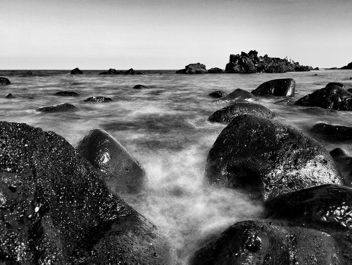 Seashore of Jeju island, Korea IPhoneography Monochrome Landscape_bw JEJU ISLAND  Korea From My Point Of View Black & White EyeEm Best Edits Seaside Seashore