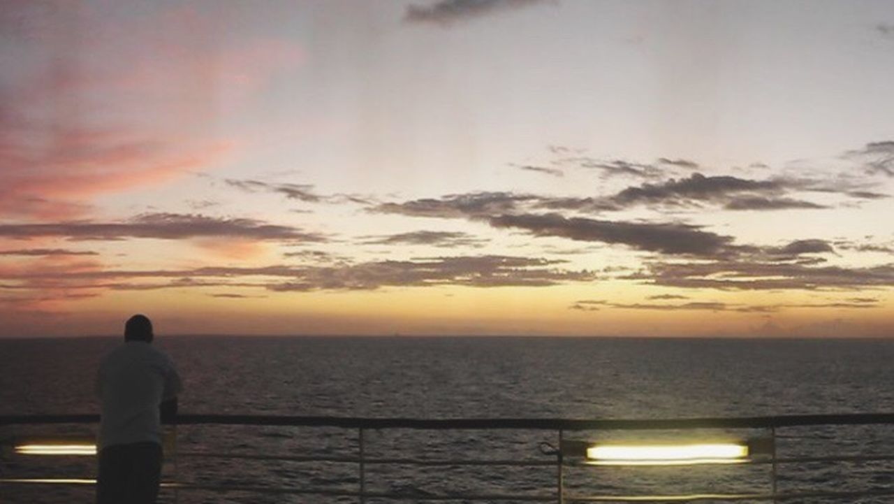 Outdoors Clouds Carnival Cruise Looking Family Sunset Sunrise