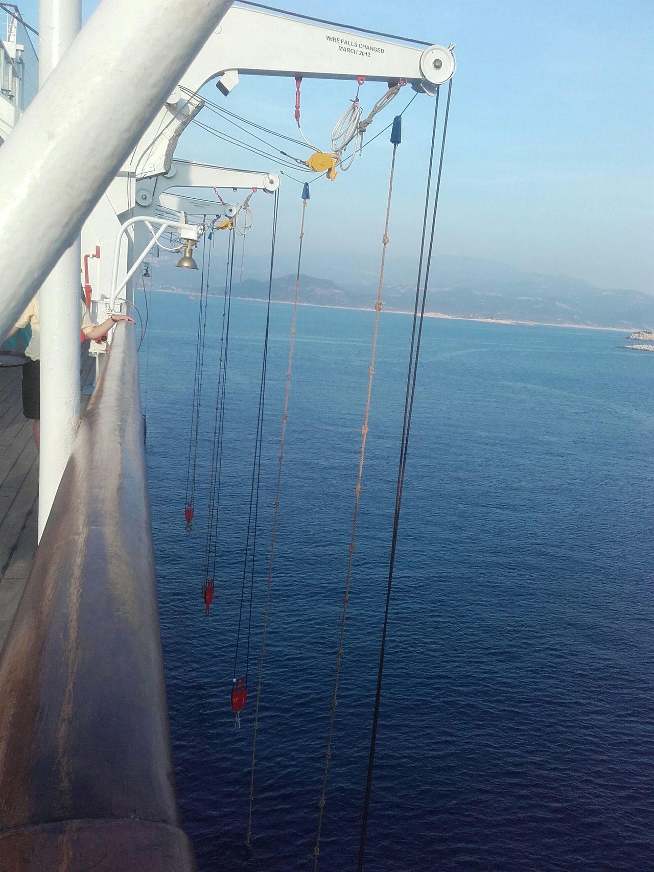 Lifeboat Winch Cruise Ship Taking Photos Kastellorizo 450 Inhabitants Boats Boats Boats
