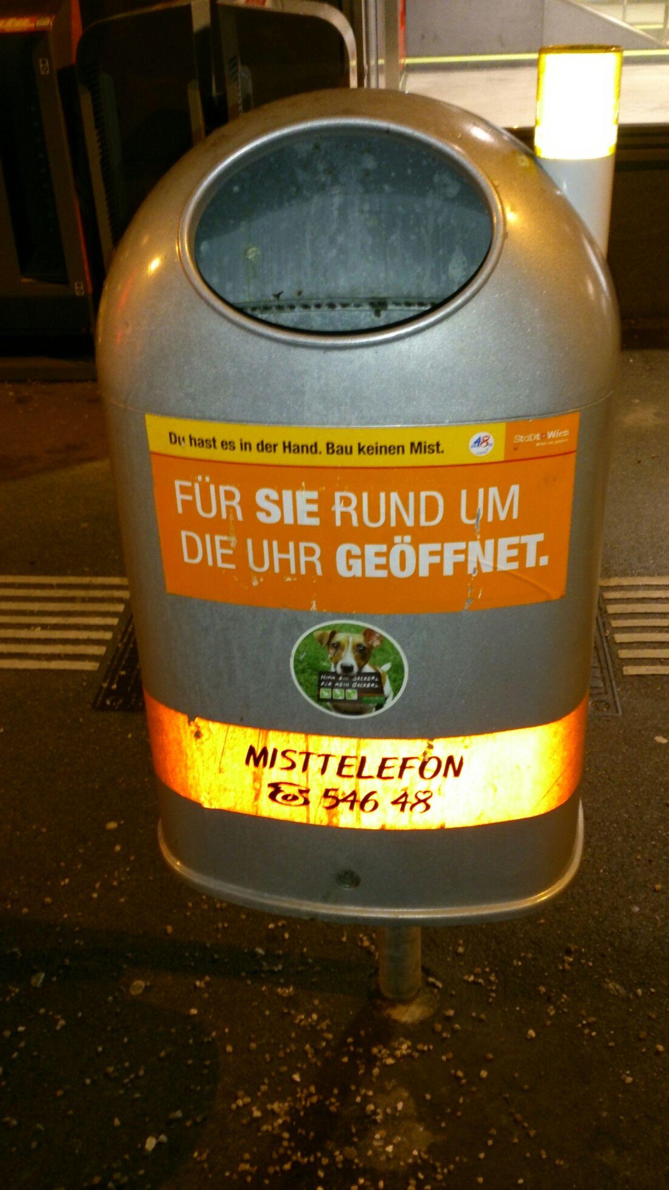 Mülleimer Der Stadt Wien Mülleimer Sprüche Visual Statements