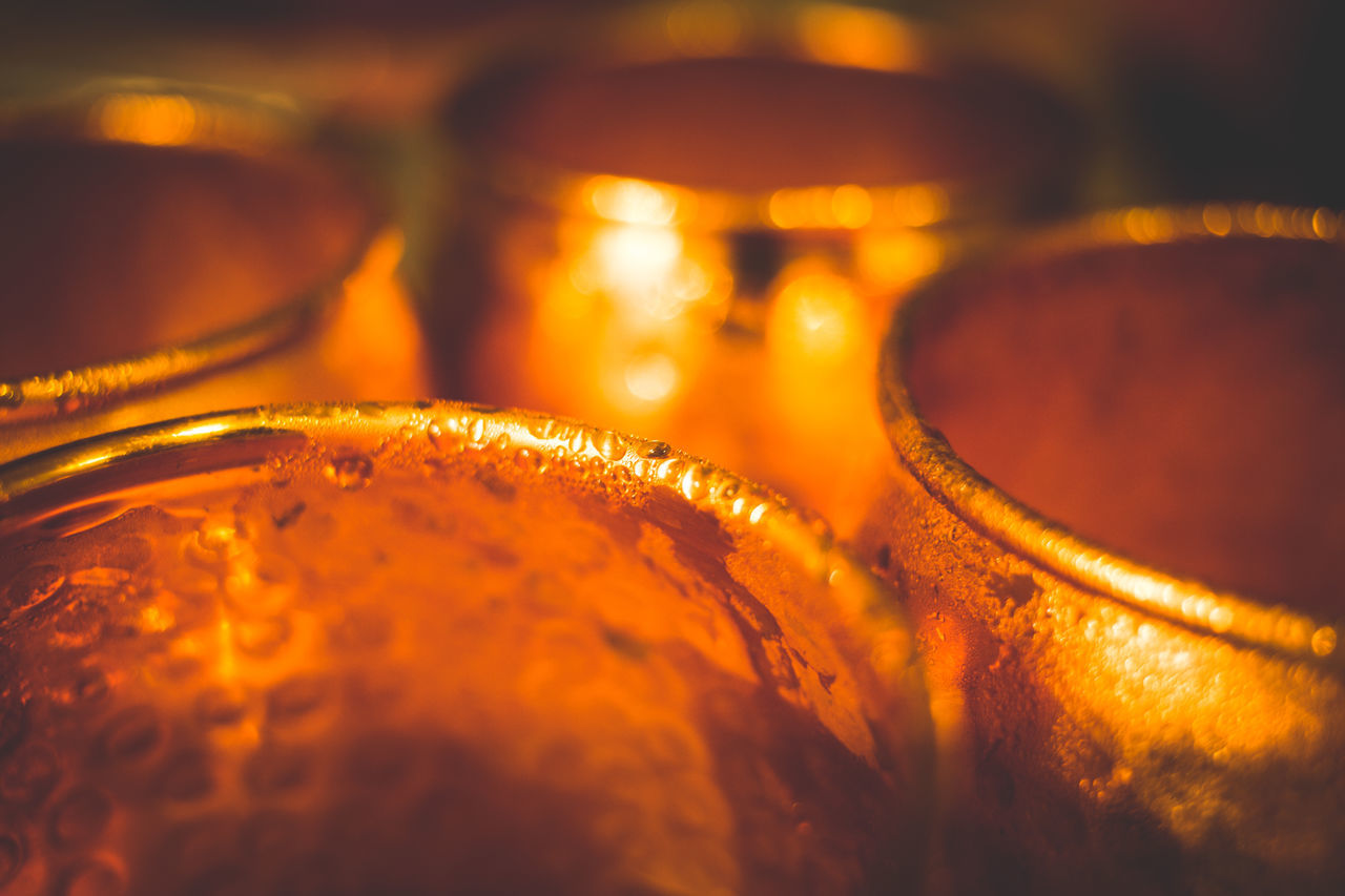 Alcohol Close-up Copper  Cups Day Drink Food Freshness Illuminated Indoors  Moscow Mule No People Orange Selective Focus