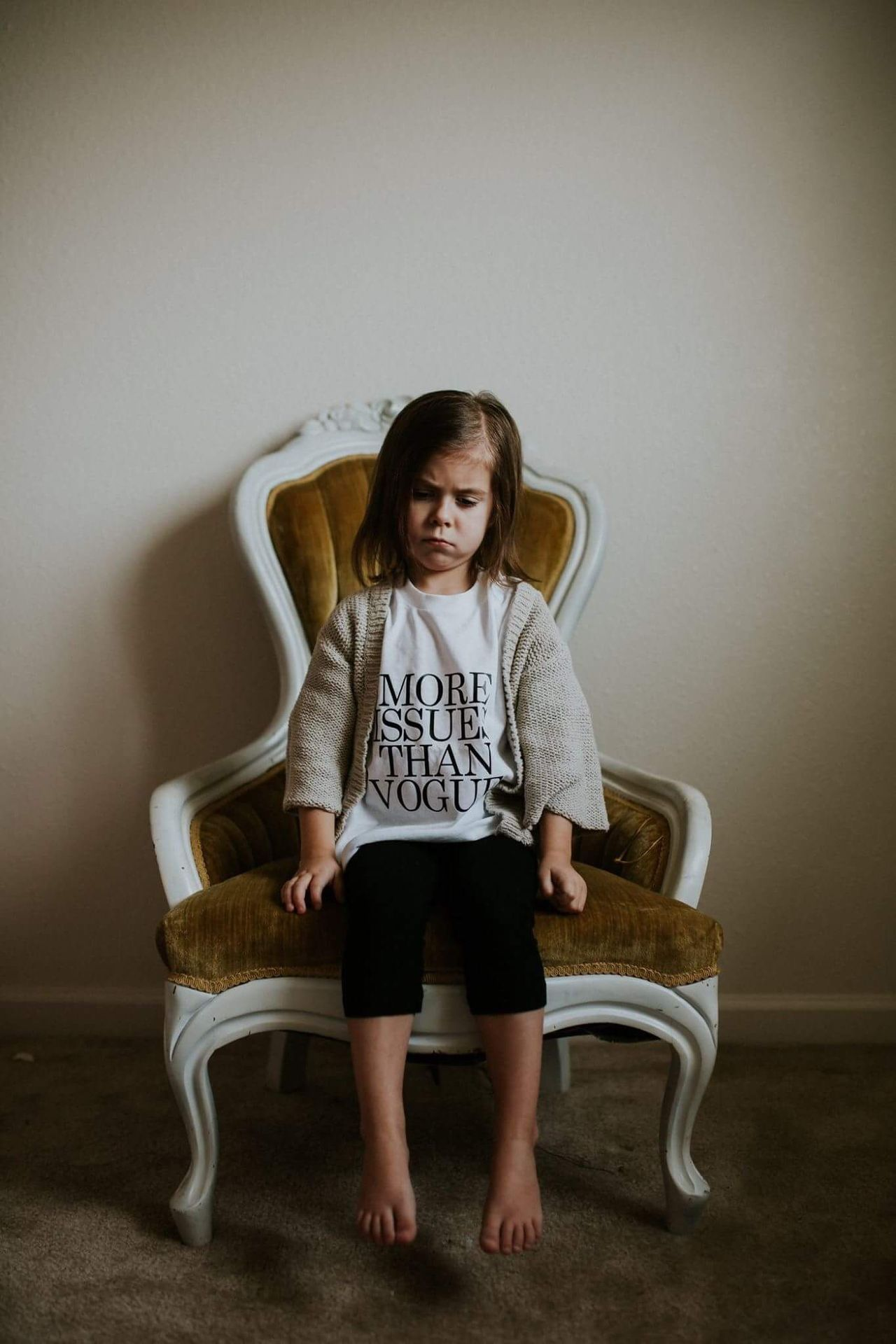 More issues than vogue. Living Room Child Looking At Camera Casual Clothing Elementary Age Family Childhood Lifestyles Full Length