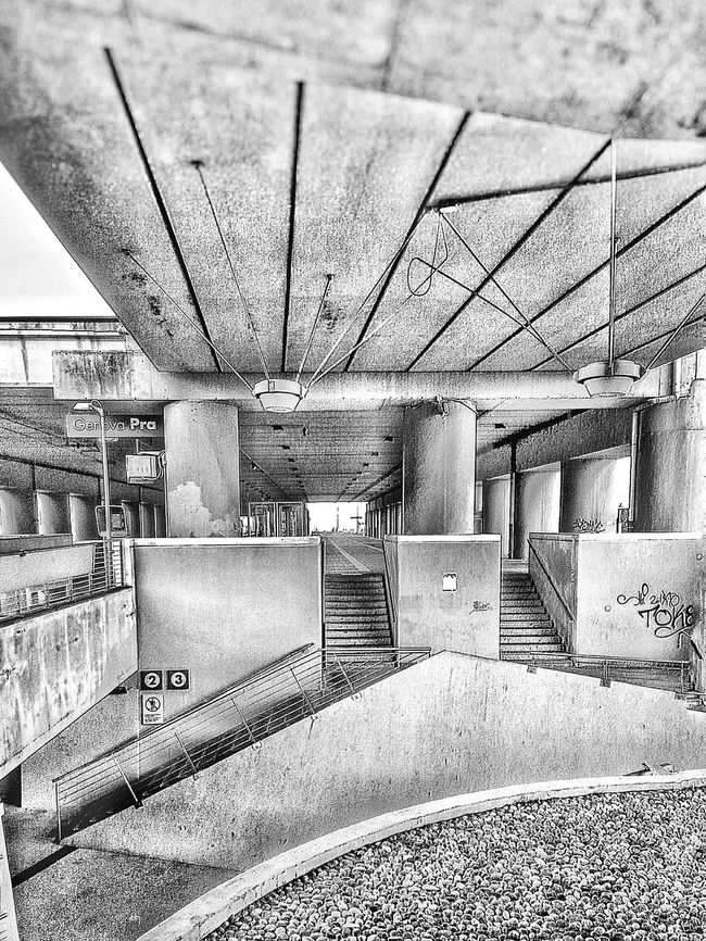 """""""This was a beach series. 15"""". Now is a Train Station, better a Train Stop. Cement Concrete Stazione Ferrovie Trenitalia Point And Shoot/ Eyeemfilter B&w 3 lev 3/ Bianco E Nero Black And White Lines Geometric Shapes Perspective"""