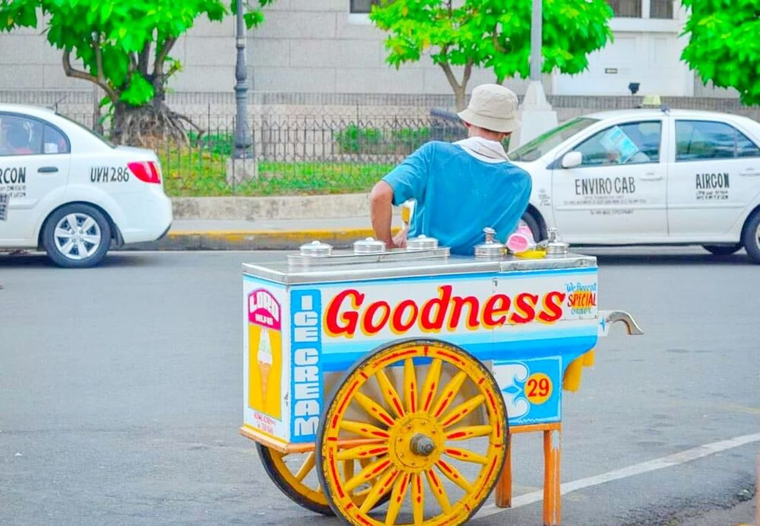 Up Close Street Photography Icecreamman Street Life Streetphotography Waiting For Customers My Favorite Photo The Street Photographer - 2016 EyeEm Awards