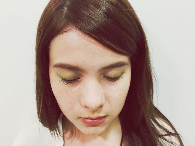 Emerald Shadow & Rose lip Makeup Shooting Daikanyama Tokyo Kotar
