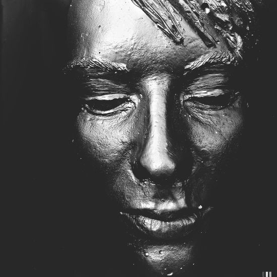The face Don Filter Sculpture Venice Blackandwhite