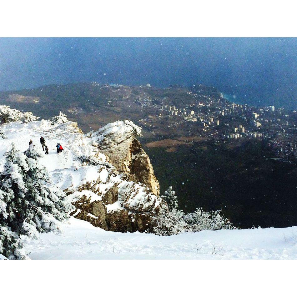 Ay Petri Mountains Winter Snow Sea Enjoying Life Littlethings Sky And Sea