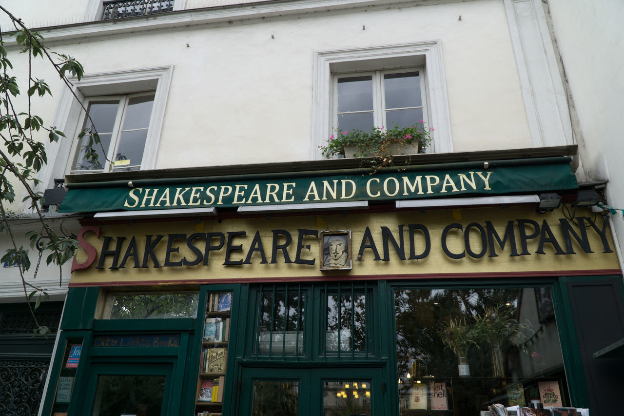 Shakespeare and Company, Paris famous english book store Architecture Book Store Building Exterior Built Structure City City Gate Day No People Outdoors Shakespeare And Company Paris Text