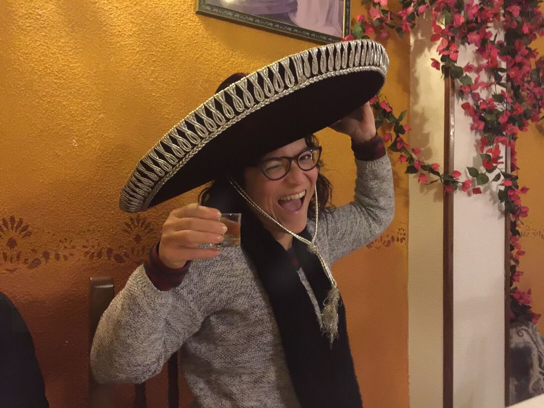 Smiling Tex-Mex Restaurant Tex-Mex Sombrero Mexicano Happiness Tequila Shots Tequila Tequila Time! Hat One Woman Only Only Women One Person Adult People Young Adult Women One Young Woman Only Young Women Indoors  Day