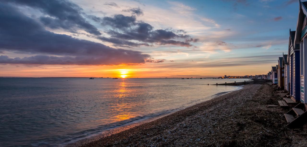 Sunset at Shoebury Seaside Uk Seascape Southeast Coast Sunset_collection Beach Huts Shoeburyness East Coast Sun