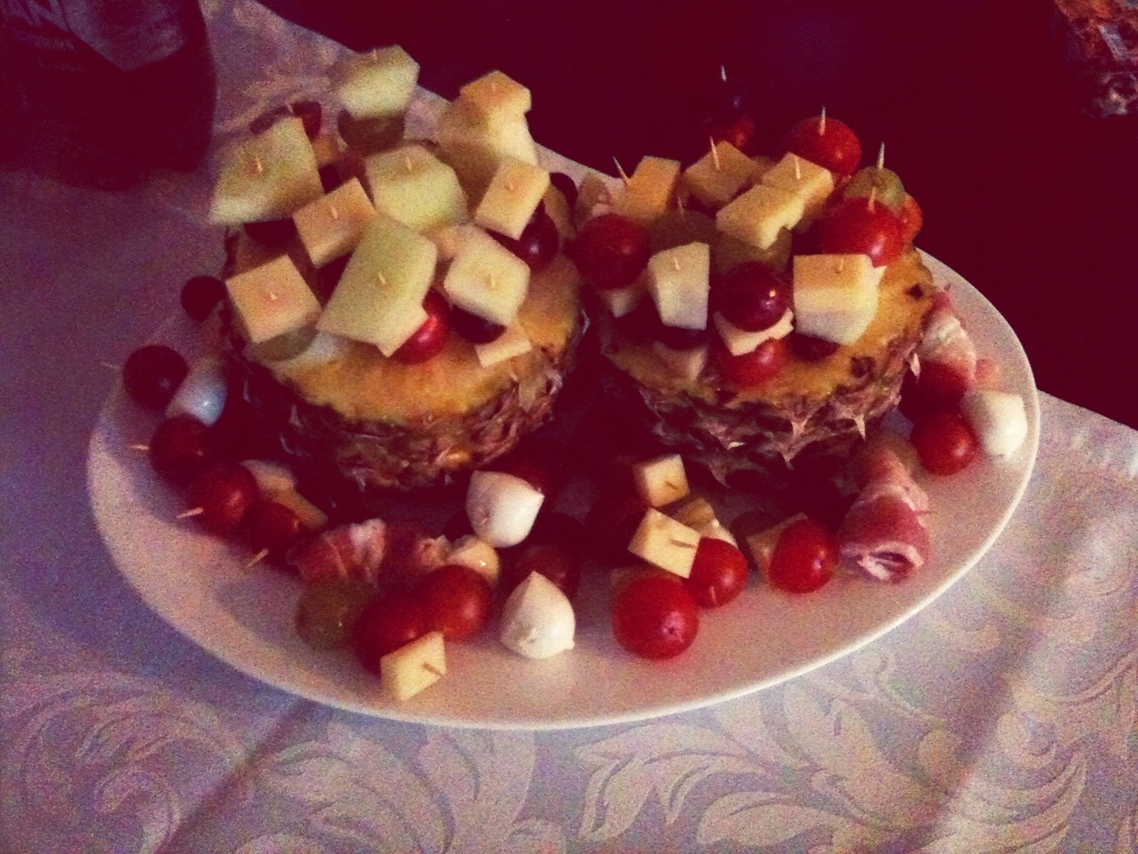 food and drink, food, freshness, indoors, ready-to-eat, still life, sweet food, indulgence, plate, dessert, unhealthy eating, table, serving size, temptation, close-up, high angle view, fruit, cake, slice