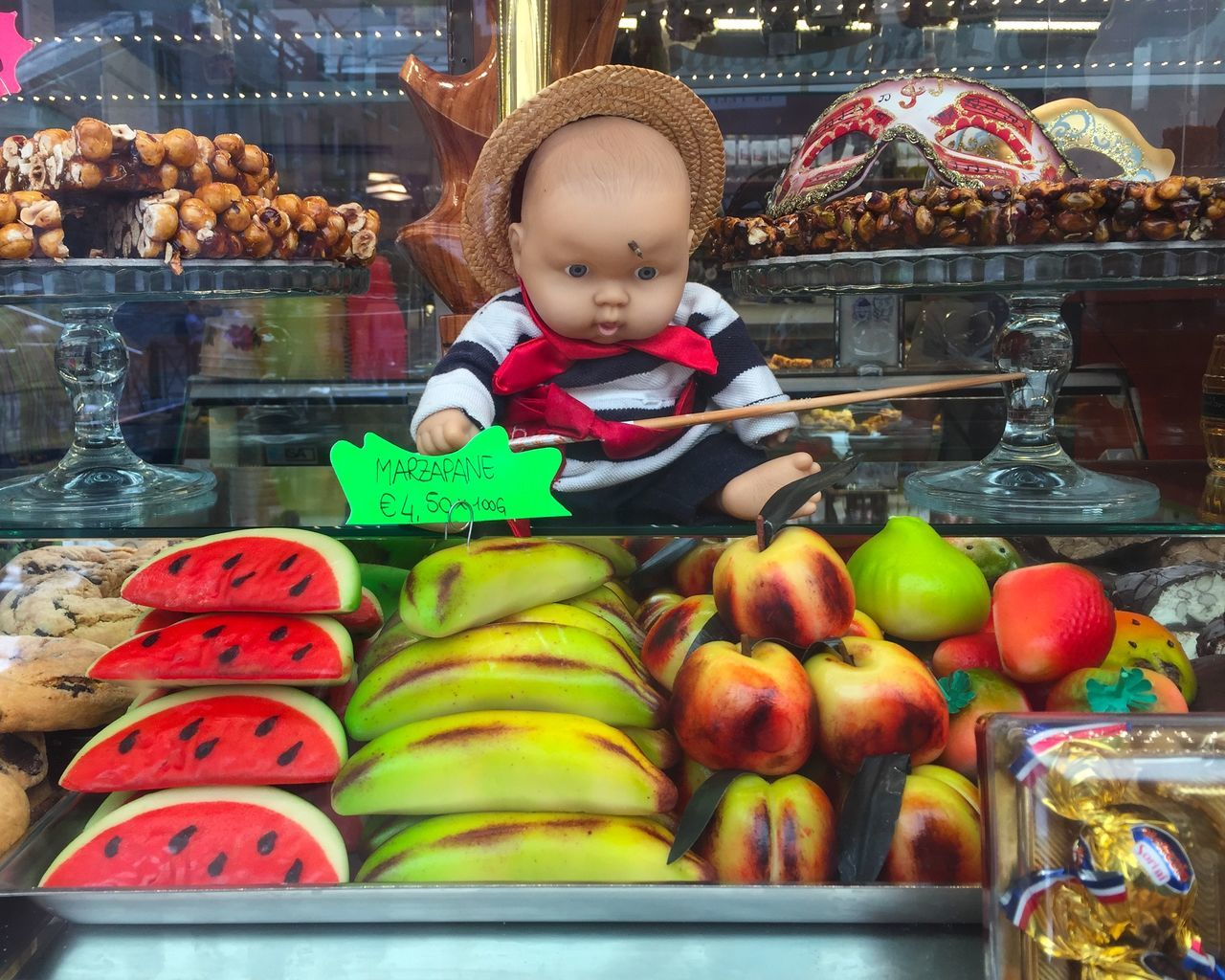 Baby Doll Candy Creepy Baby Food Food And Drink For Sale Fruit Gondolier IPhoneography Italy Marzipan Retail  Sweets Venice Venice, Italy