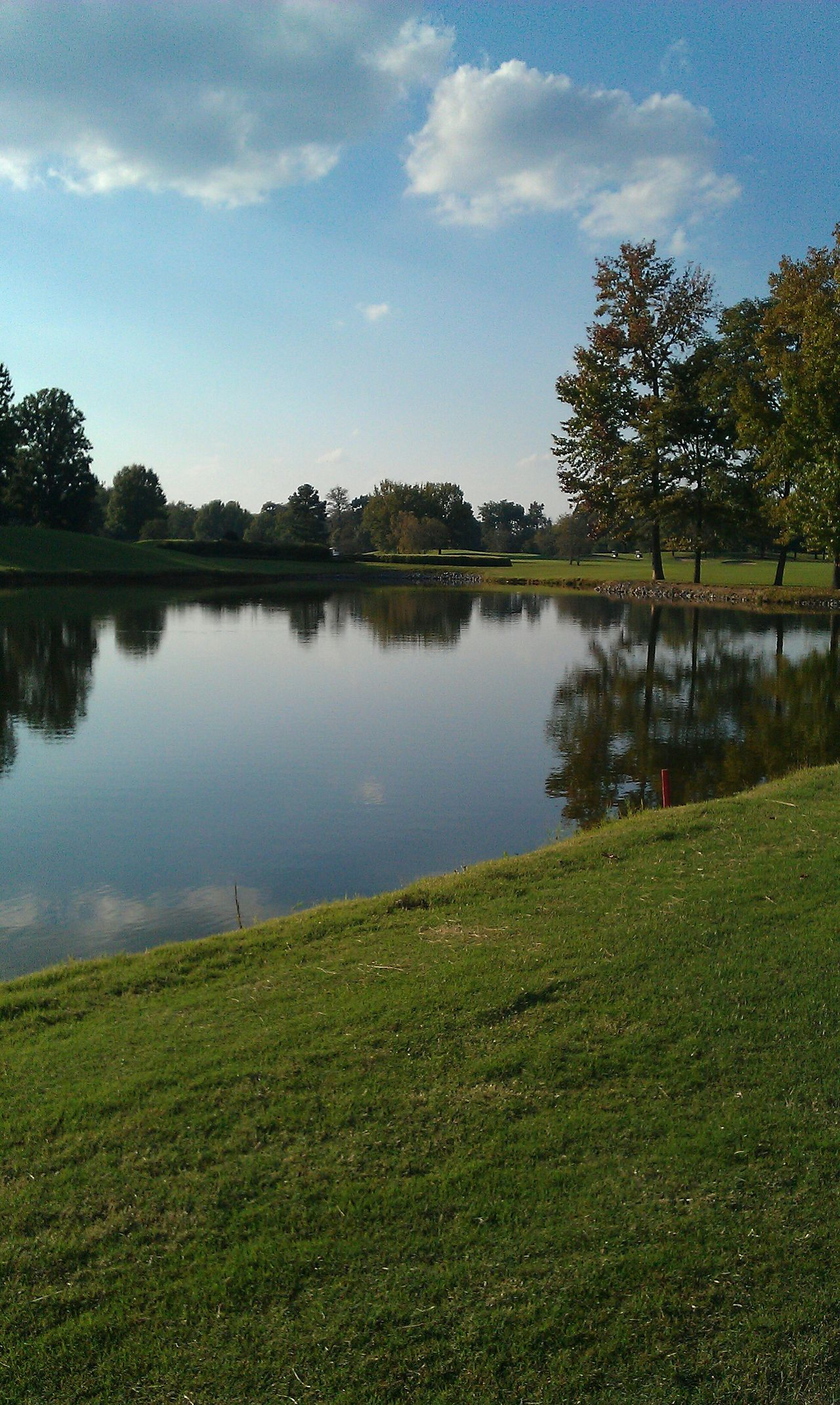 Golfing The Grass Is Green Golf Course Reflection Beautiful Day EyeEm Best Shots EyeEm Best Shots - Nature Landscape_photography Green