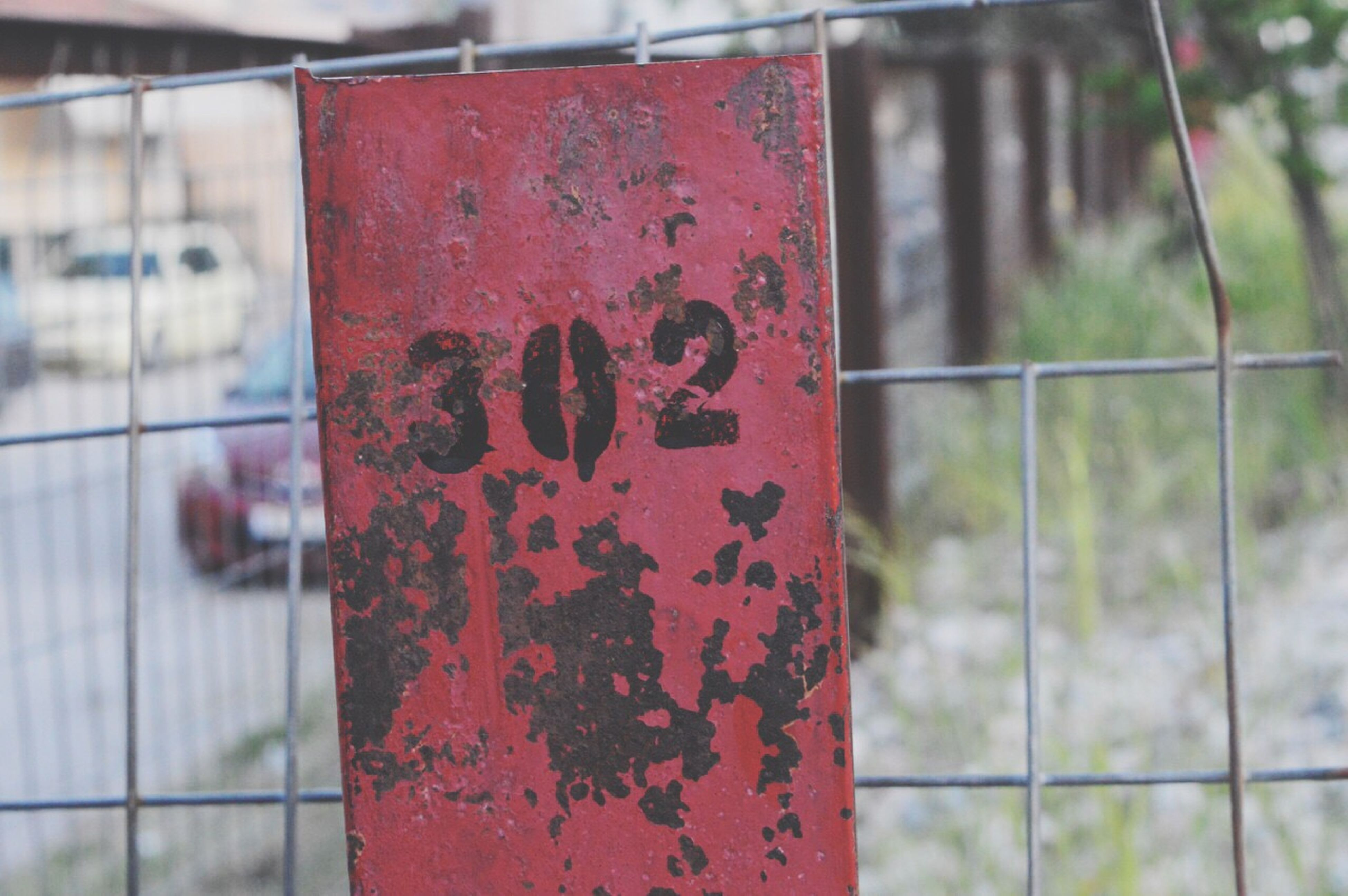 focus on foreground, protection, fence, safety, close-up, security, red, chainlink fence, metallic, padlock, day, outdoors, no people, selective focus, closed, forbidden, detail, full frame