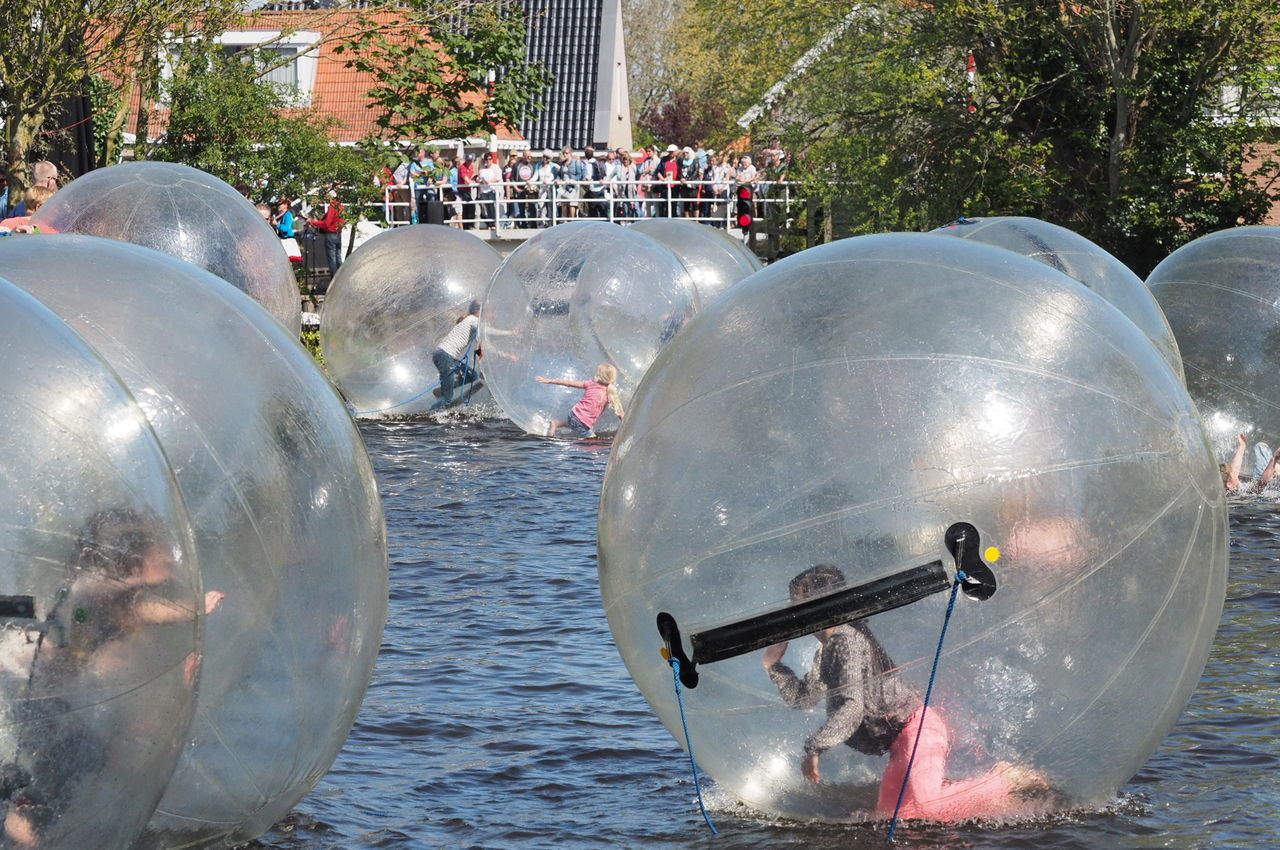 Festival In A Small Village Heeg In Friesland Water Children At Play Water Reflections Ball The Great Outdoors With Adobe
