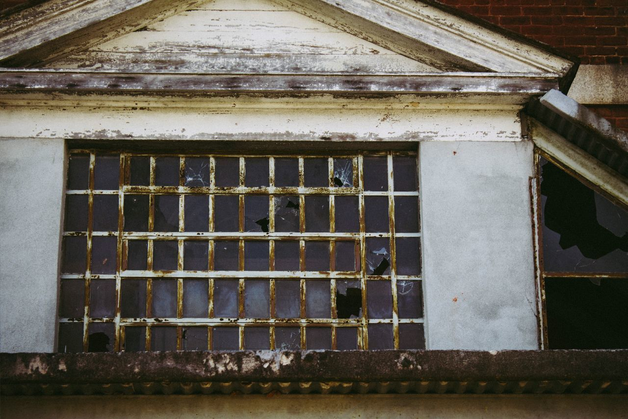 Window of abandoned mental hospital Architecture Window Built Structure Weathered Prison Building Exterior Abandoned No People Rusty Day Security Bar Outdoors Close-up Abandoned Places Windows Old