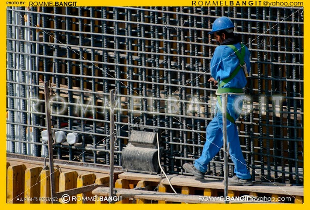 Construction Worker on the sca ffolding. Construction Site Construction Overseas Worker Construction Worker Man Migrant Workers Labor Street Portrait @rommelbangit