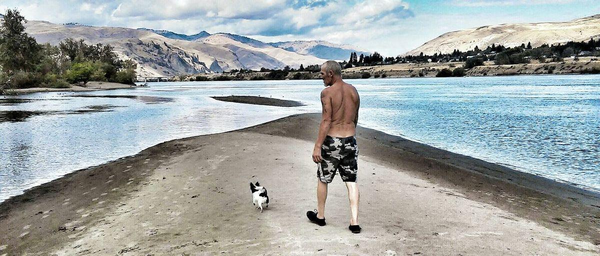 My man and my dog. Taken at Walla Walla Point Park in Wenatchee, Wa. First Eyeem Photo
