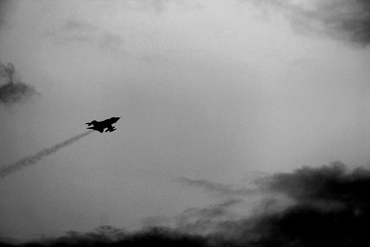 Morcombe Bay B&w Photography Fighter Jet Lucky Shot