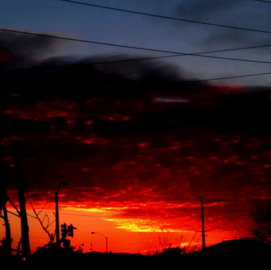 Taking Photos Relaxing Color Photography No People, Sky Outdoors Nature Red Color Sunset Orange Color Sky And Clouds Colorful Sunset Clouds Scattered Clouds Beautiful Nature End Of The Day Riverside California Color Palette Eyemphoto Ice Age
