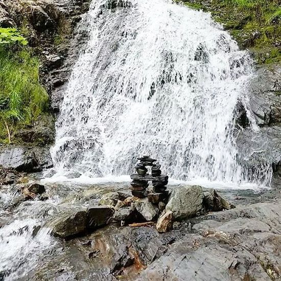 Inuksuk Waterfall Mountain 4wheel Inuksuk trees river water dirtroads goodfind rocks