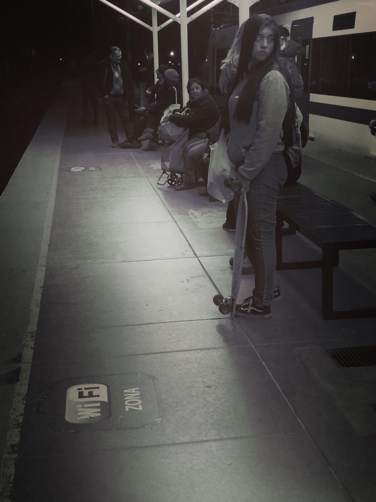 Nightphotography Skatelife Waiting Mobilephotography Hating Public Transportation