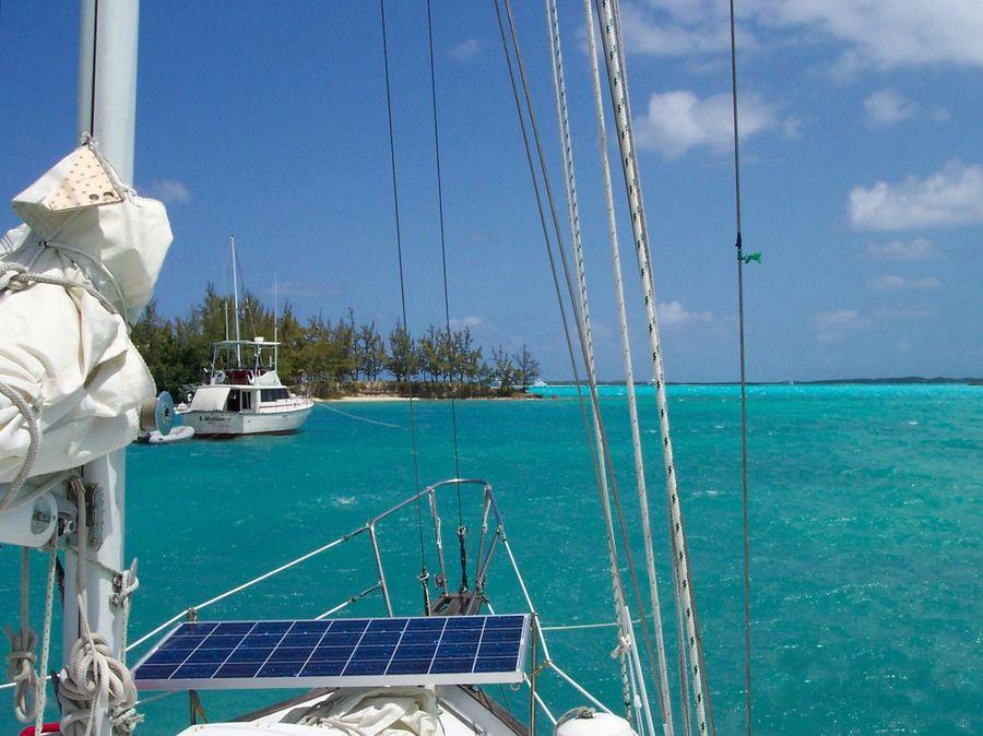 Holiday POV Sailing Bahamas Tropical Paradise Tropical Island Capturing Freedom Boatlife Carribean Tropics On Deck Solar Panel Solar Equipment Solar Energy Green Living Sailboat Sail Boat Transportation