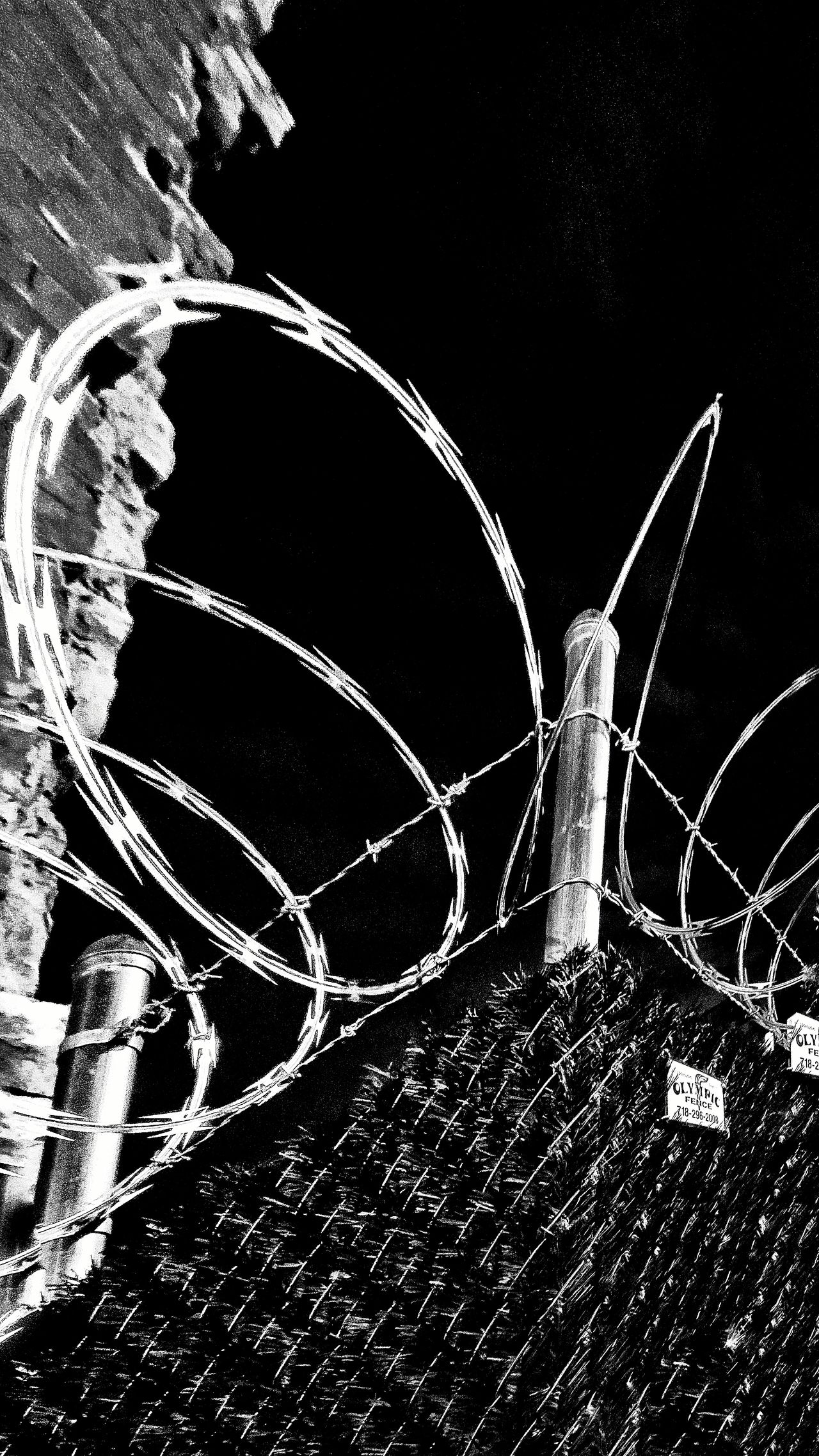 Razor Wire Fence Outdoors No People notDay Backgrounds Close-up