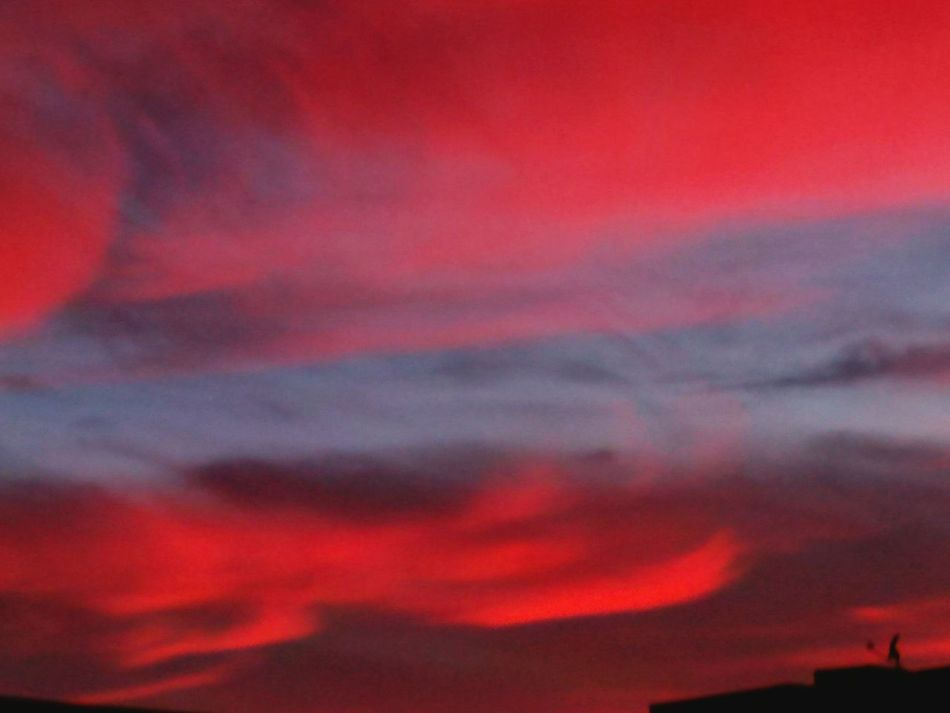 Beautiful red evening sky Oakland, Ca. Hanging Out Taking Photos Bloodredsky Beauty In The Ghetto