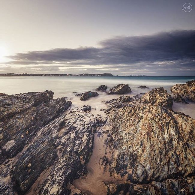 This pic is one of the last I shot in 2015. Needed to just get out there and take some photos... as I haven't used my camera since we got back from NZ in October. Any who... this was taken at sunset down at Currumbin Alley last week. There wasn't a huge amount of colour in the sunset this time round, but tried to make the most of it ☺ // Nikon Samyang 14mm Sunset Beautiful Amazing Landscape Landscapephotography Currumbin Ocean Rocks Clouds GoldCoast City Beach Thealley Photography Photo Longexposure Watermovement Instagram Dailypic Goldcoastaustralia // EXIF DATA // Nikon D7100 Samyang 14mm 2.8 3 x images vertically stitched 4 sec exposure // f22 // ISO100 Processed in Lightroom and Photoshop