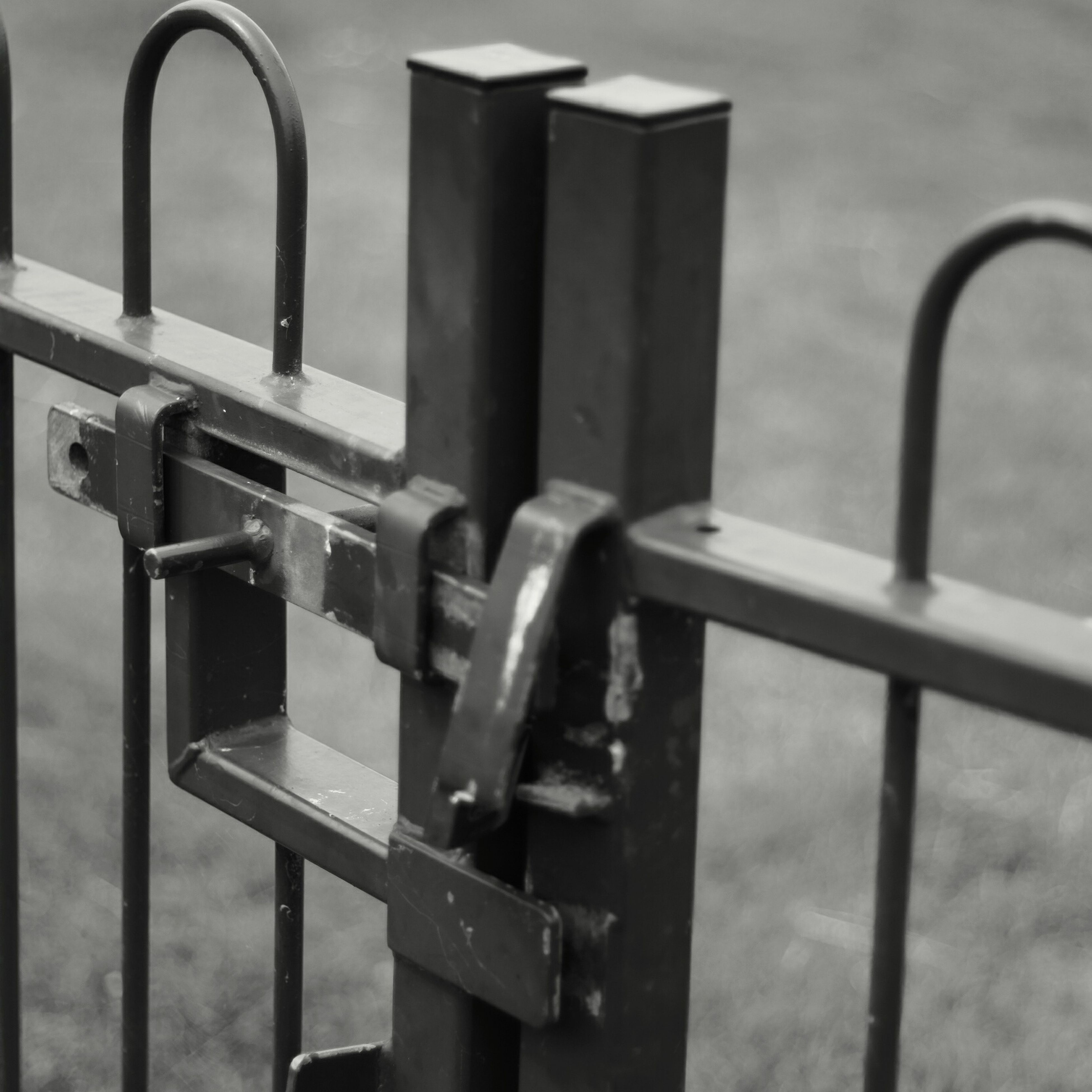 metal, metallic, close-up, focus on foreground, security, safety, protection, rusty, railing, day, chain, no people, fence, iron - metal, lock, old, gate, padlock, connection, outdoors