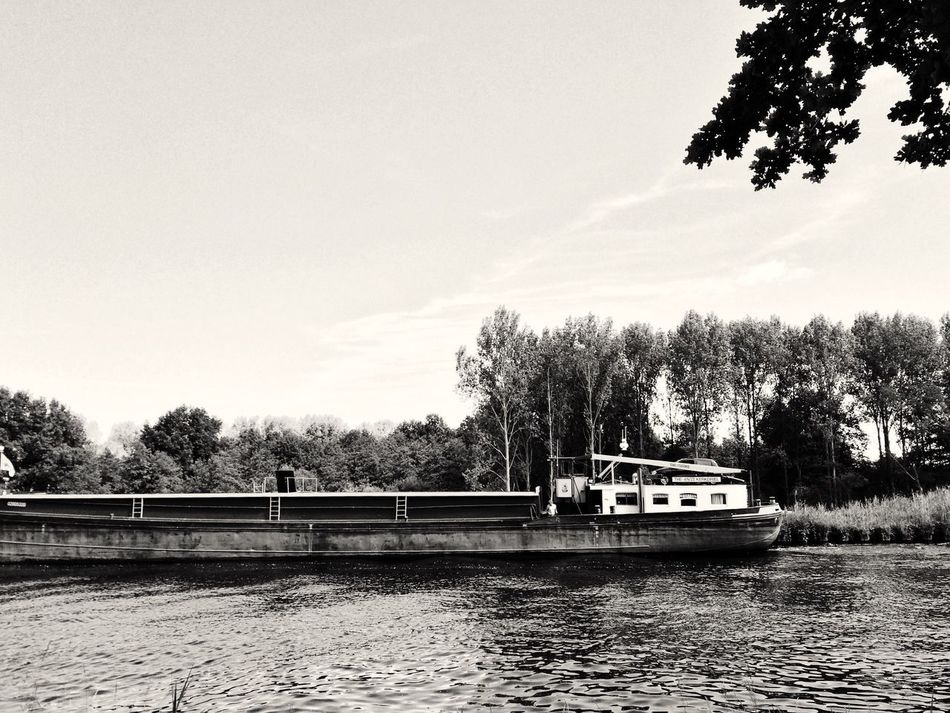 Watertransportation Watertransport Boat Ship Transportation On My Way Canal Canals And Waterways Blue Nature Meets Manmade EyeEm Gallery Taking Photos The Netherlands Holland Countryside Country Life Blackandwhite Black And White Blackandwhite Photography Black & White EyeEm Black&white!
