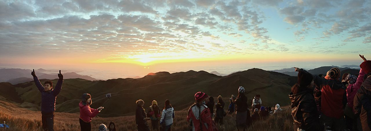 The Journey Is The Destination of the new beginnings. Enjoying the moments with my friends at the peak of Mt. Pulag, Benguet, Philippines. Check This Out That's Me Hanging Out Hello World Cheese! Relaxing Taking Photos Enjoying Life Hi! Nature Nature_collection Landscape_Collection Landscape Panoramic Photography Panorama Panoramic View Panoramic Landscape Clouds And Sky Mountains Sunrise Sunrise_sunsets_aroundworld Sunset_collection Beautiful Landscape_photography